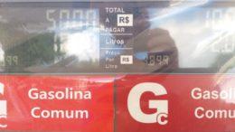 Preço do litro da gasolina foi aumentado em R$ 0,20 dessa quinta para esta sexta-feira (Foto Procon-AM/Divulgação)