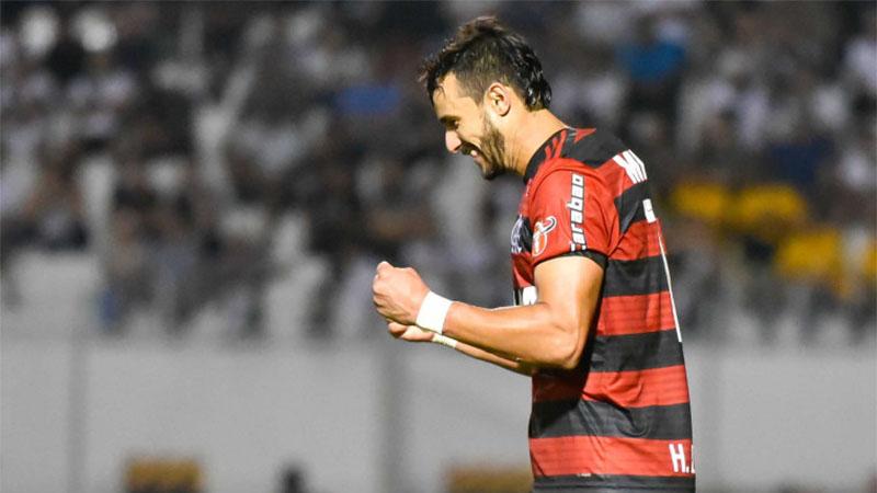 Henrique Dourado marcou o gol da vitória do Flamengo pela Copa do Brasil (Foto: Staff Images/Flamengo)