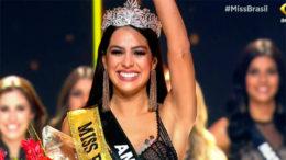 Com o título de Miss Brasil, Mayra Dias disputará o Miss Universo (Foto: Band/Reprodução)