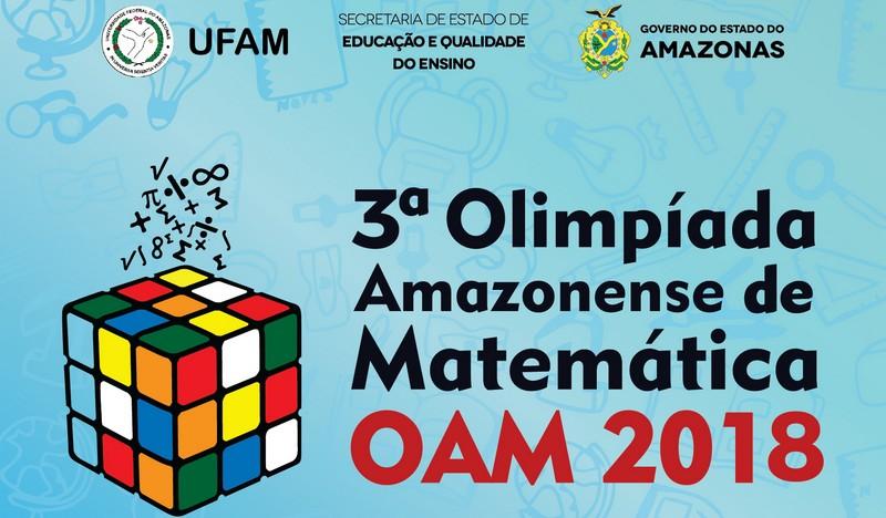Primeira fase da Olimpíada Amazonense de Matemática será dia 29 de maio