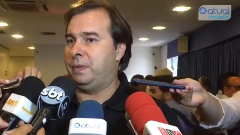 Rodrigo Maia fez discurso a favor dos incentivos fiscais de Manaus para empresários da indústria (Foto: ATUAL)