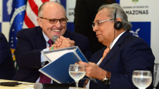 Giuliani diz que melhor segurança no Amazonas depende de combate ao tráfico de drogas na fronteira