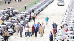 Novas viaturas são para as polícias Civil e Militar e também serviços administrativos (Foto: Clóvis Miranda/Secom)