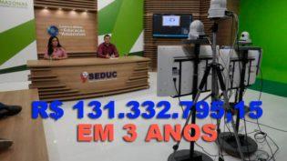 Centro de Mídias da Seduc-AM paga R$ 55,7 milhões por ano a três empresas