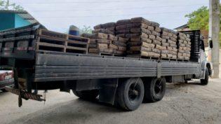 Carga de cimento desviada entre fábrica e porto em Manaus é recuperada