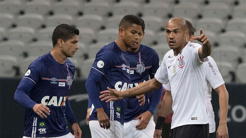 Empate foi ruim para Corinthians e Santos na 10ª rodada do Brasileirão (Foto: Daniel Augusto Jr./Agência Corinthians)