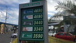 Preço do diesel caiu em postos de Manaus, mas litro da gasolina comum e aditivada é vendido pelo mesmo valor (Foto: Patrick Motta/ATUAL)