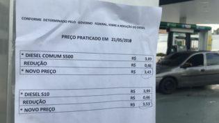 Postos em Manaus já vendem diesel com redução de R$ 0,46 no preço do litro