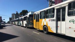 Em princípio, apenas 30% da frota de ônibus irá circular neste sábado, segundo o Sindicato dos Rodoviários (Foto: Patrick Motta/ATUAL)