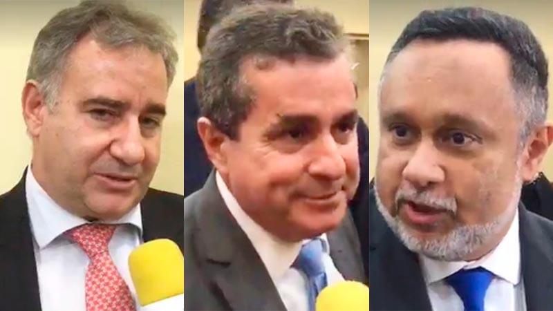 Délcio Santos, Jorge Pinho e Sílvio Costa