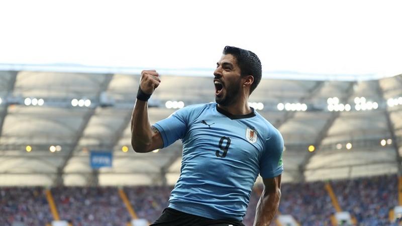 Luis Suárez marcou o gol da vitória e classificação do Uruguai contra a Arábia Saudita (Foto: Fifa/Divulgação)