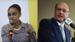 Marina Silva descartou participar da mesma chapa com Geraldo Alckmin para concorrer ao Planalto (Fotos: Agência Brasil)