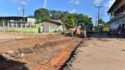 Obras do sistema viário no interior do Amazonas