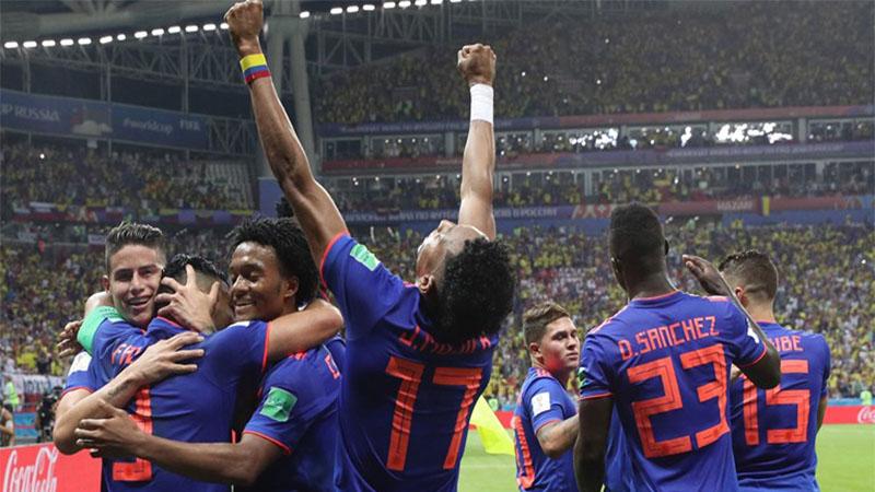 Cuadrado marcou um dos gols na vitória da Colômbia por 3 a 0 (Foto: Fifa/Divulgação)