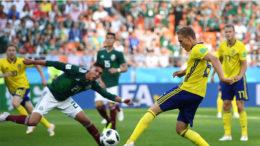 México perdeu de 3 a 0 para a Suécia, mas se mostrou adversário difícil (Foto: Fifa/Divulgação)