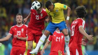 Tática dos sérvios, bola aérea foi mais eficiente com a Seleção Brasileira