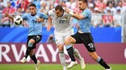 Uruguai fez 3 a 0 contra a Rússia e mostrou que pode incomodar favoritos ao título (Foto: Fifa/Divulgação)
