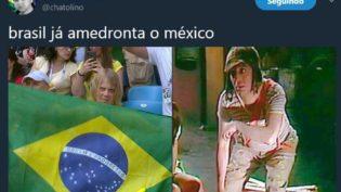 Com memes, torcida ironiza México e exalta Seleção Brasileira