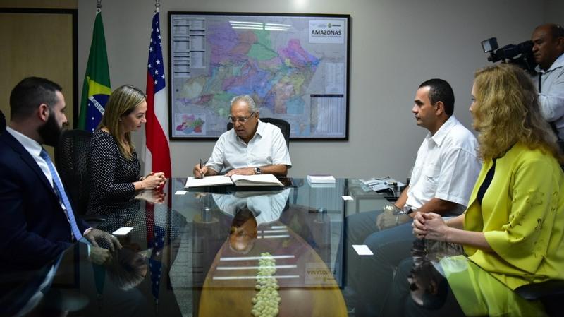 Governo Amazonino Mendes assina posse de novos secretários de governo (Foto: Bruno Zanardo/ecom)