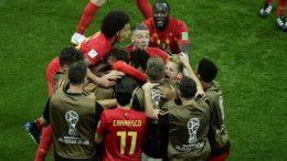 Belgas festejaram gol no último minuto que garantiu vaga nas quartas de final (Foto: Fifa/Divulgação)