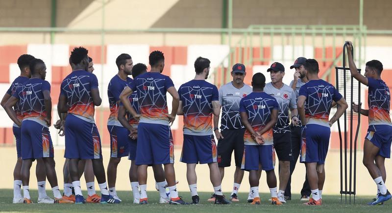 Treino do Vasco: time deve ter estreia de novos jogadores contra o Fluminense (Foto: Rafael Ribeiro/Vasco.com)