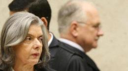 Cármen ficou ao lado de Edson Fachin ao votar contra a concessão de habeas corpus a petistas (Foto: STF/Divulgação)