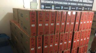 Polícia Civil recupera 191 aparelhos de TV roubados em Manaus