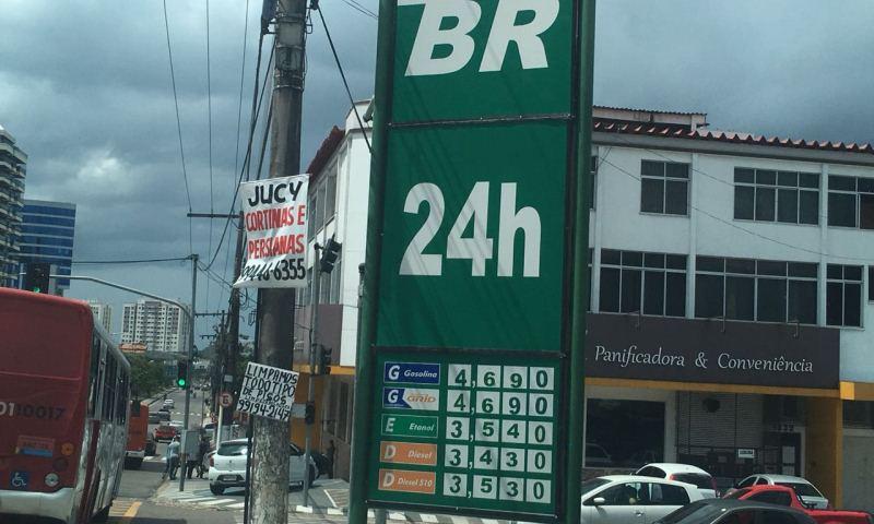 preço da gasolina em Manaus no dia 19 07 2018