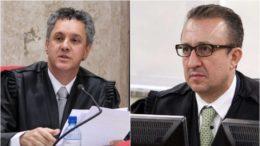 Gibran Neto e Rogério Favreto não se falaram em cerimônia de posse de novo desembargador em Porto Alegre (Fotos: