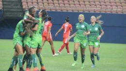 Jogadoras celebram gol na goleada do Iranduba sobre o São Francisco, em Manaus (Foto: Iranduba/Divulgação)