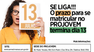 Se liga no prazo para a matrícula do Projovem!