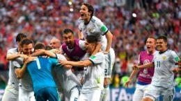 Russia comemora vitória sobre a Espanha