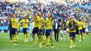 Suécia passa pela Suíça e chega às quartas pela primeira vez desde 1994