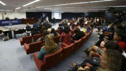 Audiência reuniu religiosos e filósofos em debate sobre o aborto nesta segunda-feira, no STF (Foto: Marcelo Camargo/ABr)