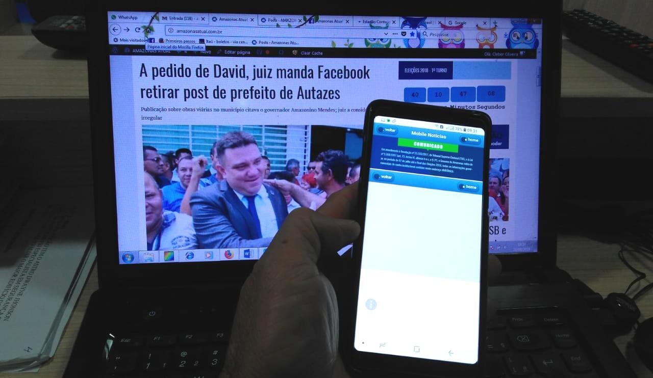 Ao acessar notícias no site do governo do Estado pelo celular nesta segunda-feira, 27, o ATUAL verificou que publicações não estão disponíveis (Foto: ATUAL)