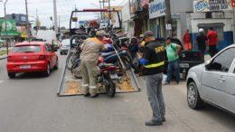 Apreensão de motos usadas em transporte clandestino de passageiros é mais frequente eme Manaus (Foto: SMTU/Divulgação)