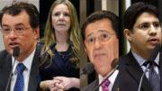 Eduardo Braga e Vanessa Grazziotin disputam a reeleição, Alfredo Nascimento e Hissa Abrahão concorrem à vaga: os quatro aumentaram patrimônio (Fotos: ATUAL)