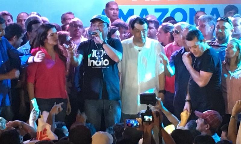 Senador Eduardo Braga oficializou disputa pela reeleição em convenção do MDB na manhã deste sábado, 4 (Foto: Patrick Motta/ATUAL)
