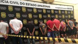 Suspeitos e envolvidos em crimes contra a mulher foram presos na manhã desta sexta-feira (Foto: Patrick Motta/ATUAL)