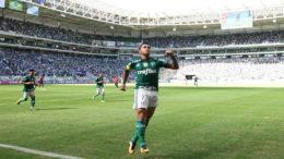 Dudu marcou o gol da vitória e da classificação do Palmeiras na Copa do Brasil (Foto: César Greco/Ag. Palmeiras)