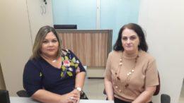 Juízas Rebeca Mendonça e Anagali Bertazzo afirmam que comissão de fiscalização agirá com rigor na propaganda eleitoral (Foto: Henderson Martins/ATUAL)