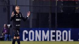Luiz Fernando comemora gol para o Botafogo, mas time perdeu na Sul-Americana (Foto: Divulgação/Conmebol)