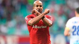 Patrick marcou o gol da vitória do Internacional contra o Bahia (Foto: Ricardo Duarte/Internacional)