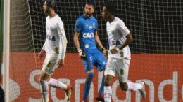 Jogadores do Santos seguraram o 0 a 0, mas foram eliminados da Libertadores (Foto: Ivan Storti/Santos FC)