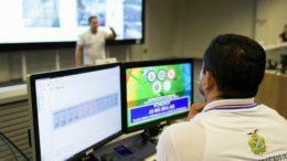 Monitoramento do sistema de segurança pública em Manaus. MPE apura se SSP-AM demitiu servidores (Foto: Valdo Leão-Secom)