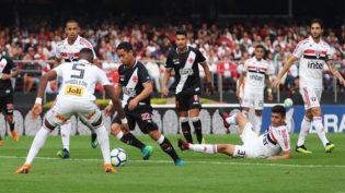 São Paulo vence o Vasco e se torna líder, seguido pelo Flamengo