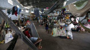 Abrigo em Roraima é recriado para imigrantes da etnia Warao da Venezuela