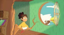 Personagem usa linguagem de libras e animação é destinada ao público infantil (Foto: YouTube/Reprodução)