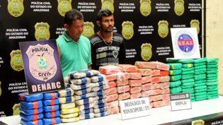 Operação Banzeiro apreende 150 quilos de cocaína em balsa em Manacapuru