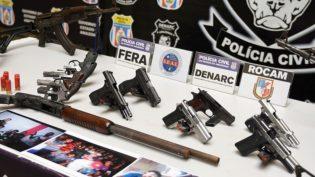 Secretaria informa que 1,4 mil armas de fogo foram apreendidas em Manaus este ano
